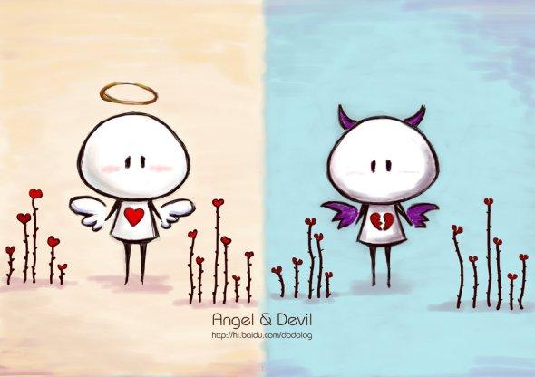 angel_and_devil_by_dodolog-d3dn3rv